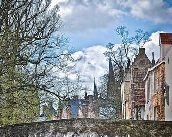 Bridge over Water-Brugge Belgium-multiple sizes available-landscape-Bridges-Gift-Photography-