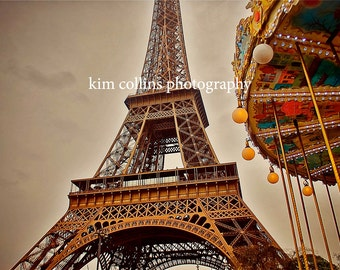 Eiffel Tower Carousel-Paris France,multiple sizes available-landscape-Eiffel Tower-Parisian-photo