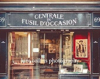 Parisian Store Front,Fine Art PhotographyParis,France,multiple sizes available-store front, red,black, vintage-parisian-retail
