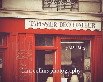Interior Decorator,Fine Art Photography,Paris,France,multiple sizes available-parisian,Tapissier Decorateur,stores, retail,red