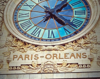 Paris-Orleans Clock at the d'Orsay,Fine Art Photography,Paris,France,multiple sizes available-parisian,clock,museum,time,orleans, paris