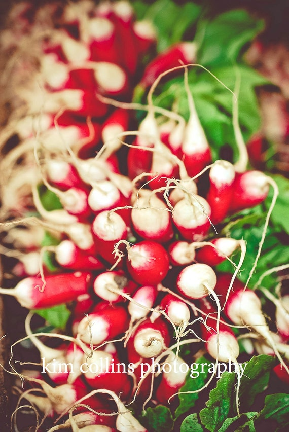 Radishes-Boulevard Raspail,Fine Art Photography,Paris,France,multiple sizes available-vegetables, red,green,produce,cooking,kitchen decor