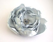 Bridal Hair Accessory - Silver Gray Rose - Hair Flower - Hair Clip