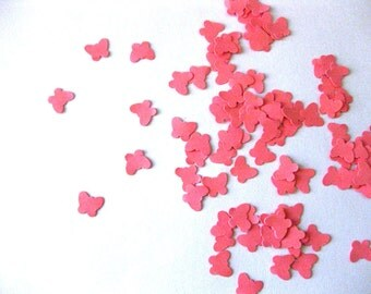 Mini Butterfly Confetti Pink Butterfly Punch Outs - Set of 100
