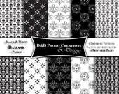 Black & White Damask - Printable Paper