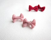 Super Cute - Summer Pink Bow Earrings - 0.9 inches/2.2cm - Ready to Ship Jewelries