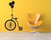 Penny Farthing Bicycle Wall Decal