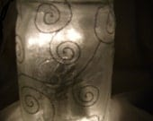 Illuminating Jars - Set of 4 White Kerr & Ball Jars- For Weddings,Anniversarys or Special Events