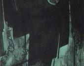 Original Mezzotint- Nocturno en grafica alta - Limited Edition Fine Art