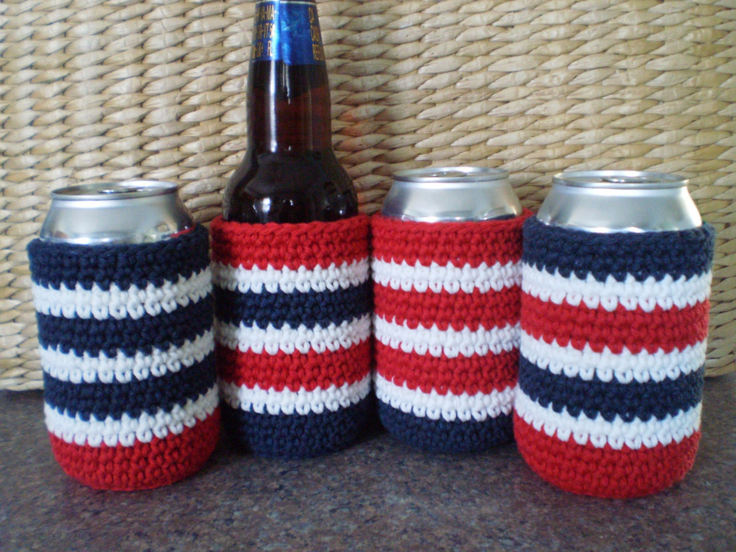 Crochet Beverage Cozies Beer Cozies Can Coozie by ...