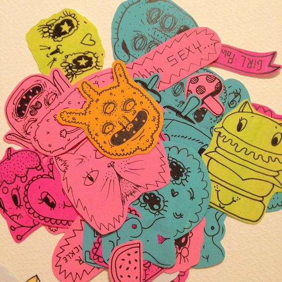 Pack of 8 random stickers