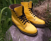 VTG near NOS  Dr Martens Yellow,1460 leather made in england ,excellent condition. 8 eyelet .super sole no wear.