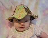 Chipper Birds Sun Bonnet- Newborn