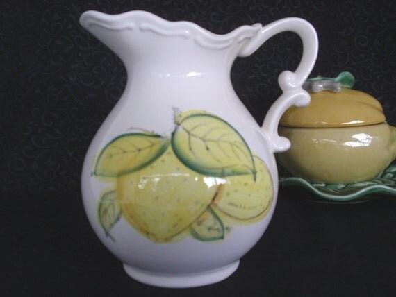 SALE 30 PERCENT Pitcher JAPAN Lemonade Ewer Lemons
