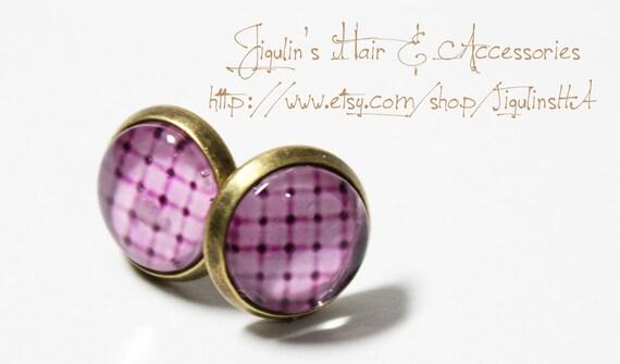 Vintage inspired Bronze stud earrings