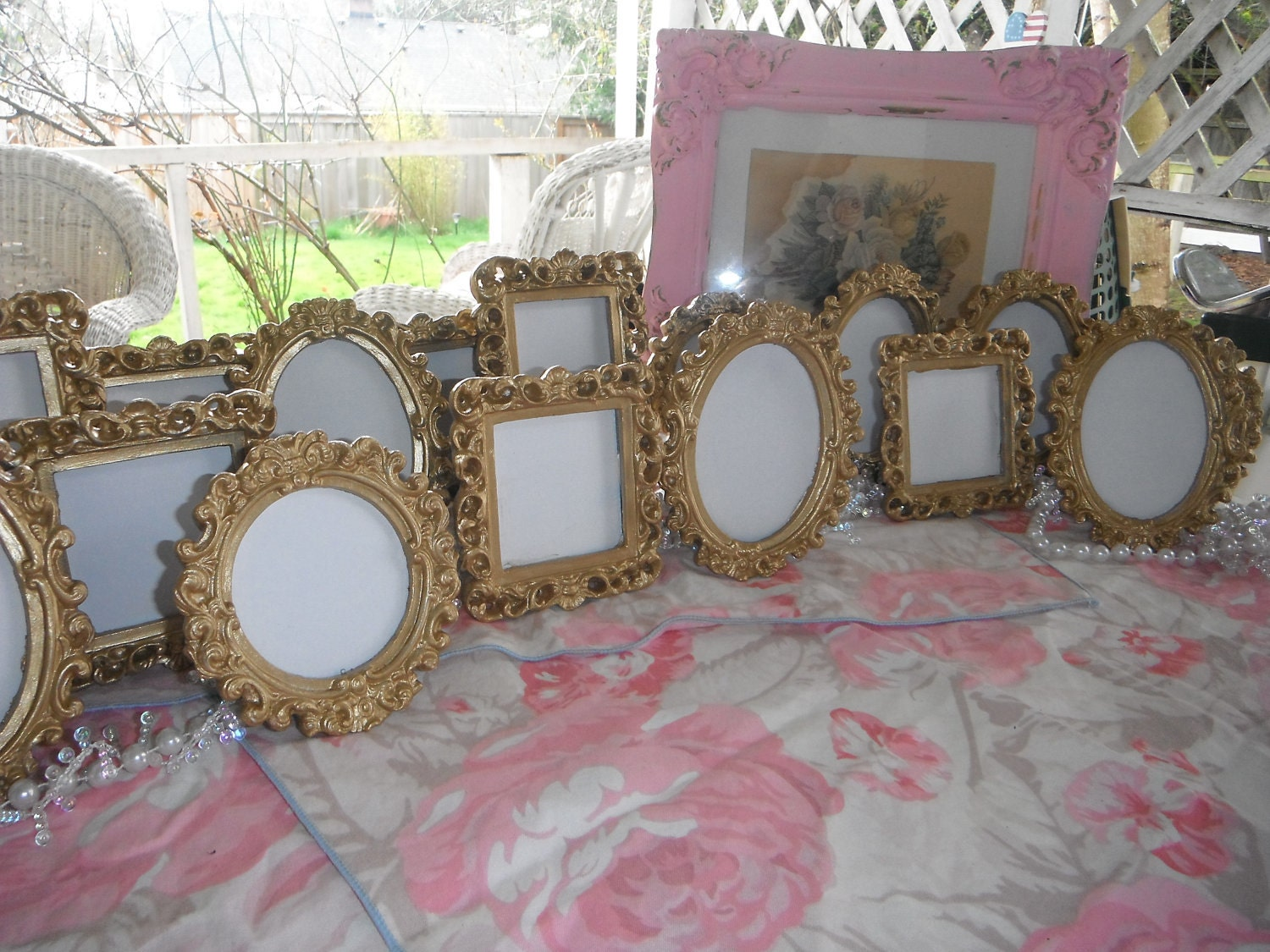 Set of 10 wedding table ornate frames for numbers or for How to display picture frames on a table