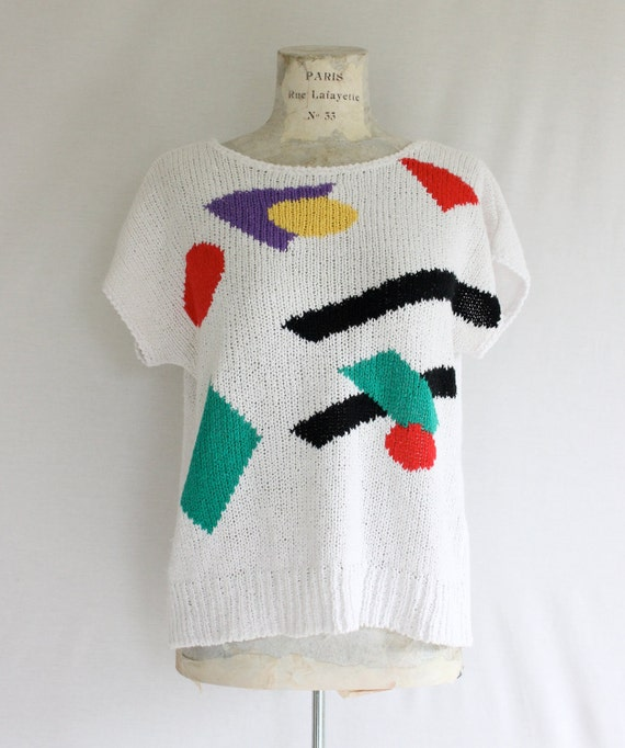 Sale/1980s Color Sweater