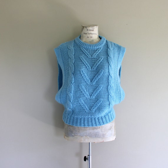 1980s Sweater/Cotton Candy Blue