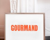 Gourmand 18 by 24 Letterpress Poster