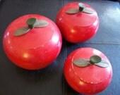 Vintage Apple Canister Set