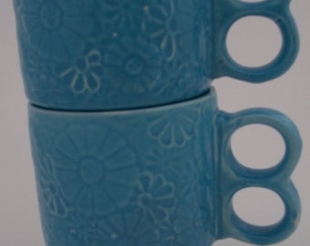Vintage Flowered Coffee Mugs