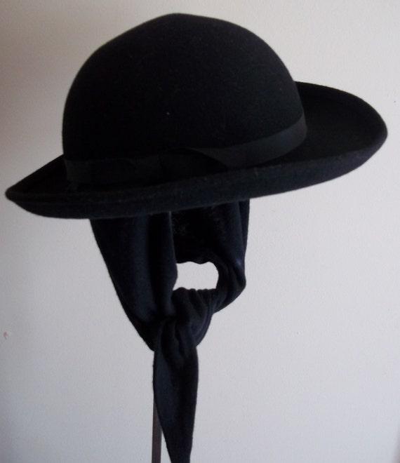 Vintage Doeskin Geo Bollman Co. Miss Bierner Hat
