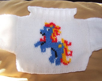 Hand Knitted My Little Pony Sweater to fit Build a Bear animals