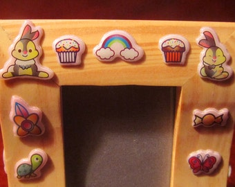 CUTEY  PUFF CRITTERS childs picture frame