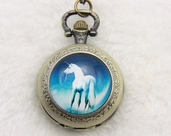 Necklace Pocket watch unicorn