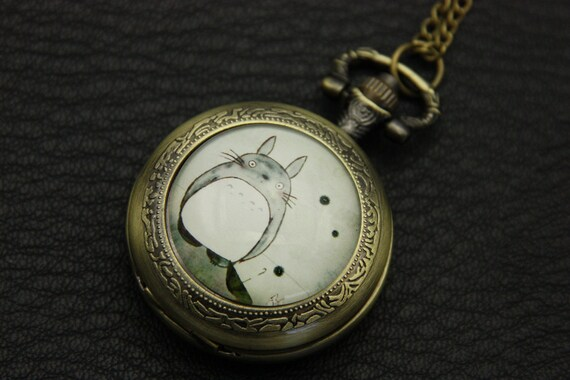 Necklace Pocket watch totoro 3