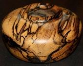 Black and White Wooden Ebony Bowl