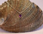 African Amethyst and Sterling Silver Pendent Necklace