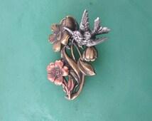 Hummingbird Brooch- Hummingbird Jewelry- Bird Jewelry