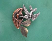 Hummingbird Brooch- Hummingbird Jewelry- Hummingbird Pin