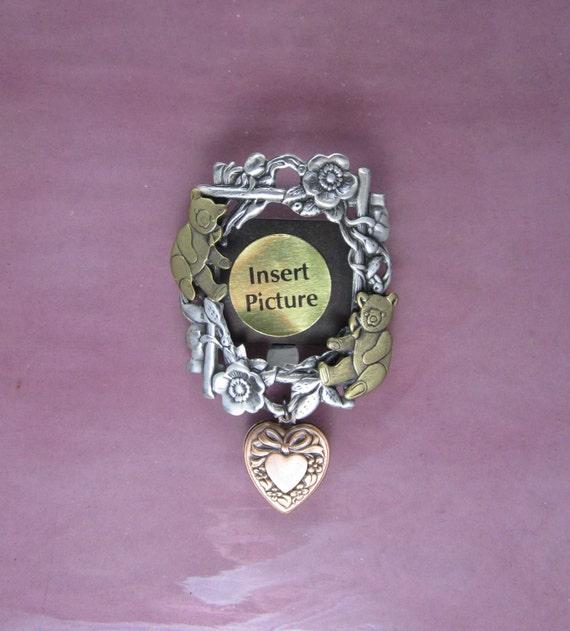 Grandma's Little Darling Picture Frame Brooch