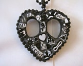 Mosaic Peace Heart Necklace