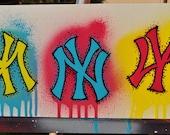 NY Yankees CMYK fine art by Summo