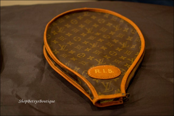 SALE 1970s Louis Vuitton monogram tennis racket case