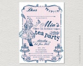 PRINTABLE Tea Party Invitation. Retro, vintage inspired.