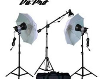 Vu-Pro Viper V-100 2200 Watt Mini Boom Photography Lighting Kit