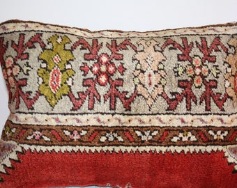 Grand Sale / Soft Hand Woven - Turkish Carpet Pillow Cover - 20x14 inch