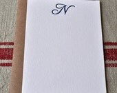 Monogram Letterpress Card
