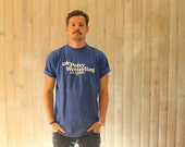 T-Shirt  Vintage Royal Blue Size L