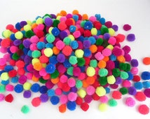 Pom Poms Yarn Pom Poms Over 80 + Colors Craft Supply Pompoms Hanging Pom Poms Party Pom Poms Yarn Pompoms Handmade Mini Pom Poms 50+ Pom Pom