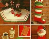 Vintage 1979 Bernat Co Book 256 Christmas in Tabriz Crochet Knit Patterns ORIGINAL PATTERN