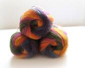Yellow, Blue, Orange, Pink, Purple, Green Batik Yarn - 2 SKEINS Knitting or Crochet Yarn - Ready to Ship