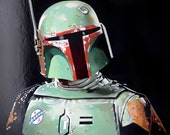 36 X 36 Print Star Wars Boba Fett Painting