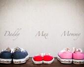 "Family portrait Custom for Marissa - Converse All Star  - 8""x12"" - 20x30cm wall decor print"