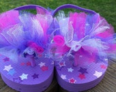 2T (size 7/8) Purple w/ Stars & purple, hot pink, and white tulle