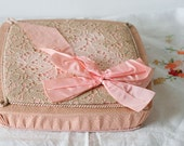Vintage Pink Box of Handkerchiefs from France